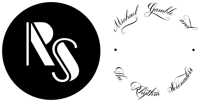 Monogram & Text side by side