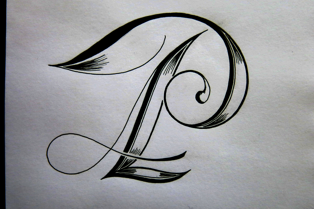 P This One Shares Similar Ornamentation To The N But Its Form Is Inspired Mostly By Pointed Pen Calligraphy Rather Than Roman Caps