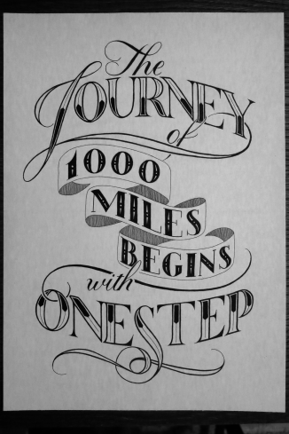 The Journey of 1000 Miles Begins with One Step