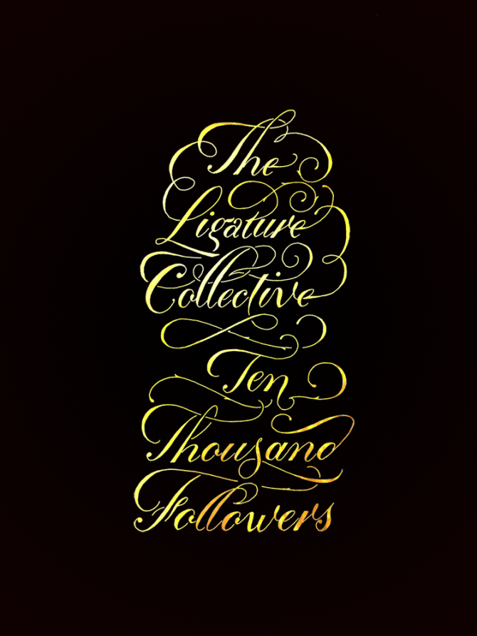 The Ligature Collective Gold on Black