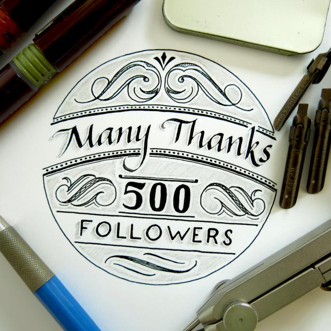 Many Thanks 500 Followers