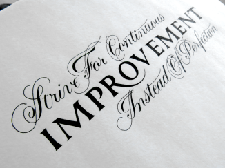 Strive For Continuous Improvement Angle