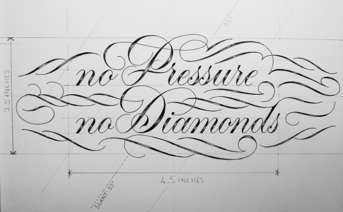 No Pressure No Diamonds Measurements