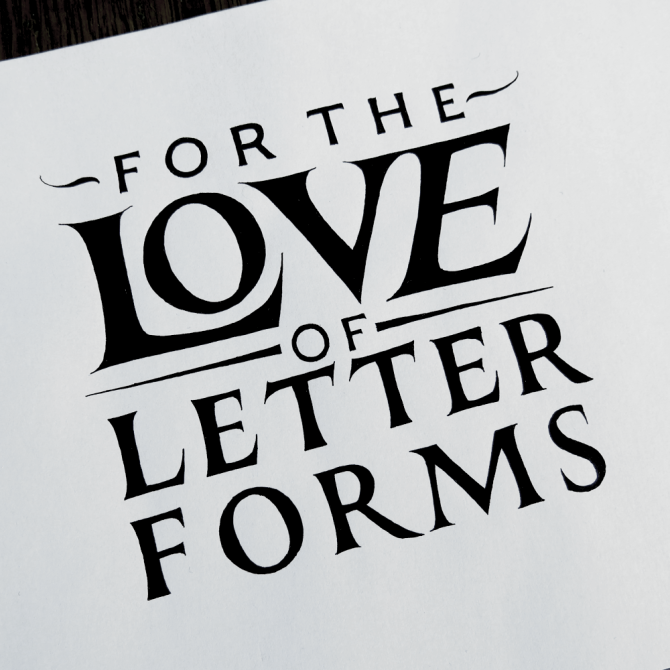 For the Love of Letterforms Simple