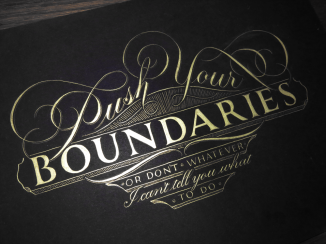 Push Your Boundaries Gold